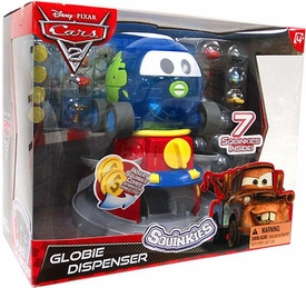 Disney Cars 2 Movie Squinkies Globie Dispenser [Includes 7 Squinkies]