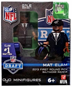 OYO Football NFL Draft First Round Picks Building Brick Minifigure Mat Elam [Baltimore Ravens] #32 Draft Pick