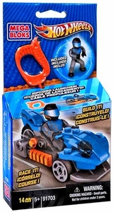 Hot Wheels Mega Bloks Set #91703 Blue Precision Luge