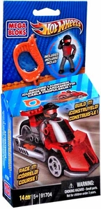 Hot Wheels Mega Bloks Set #91704 Red Outrageous Dragster