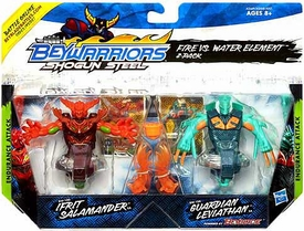 Beyblades Beywarriors Shogun Steel Endurance Attack 2-Pack Fire vs Water Element [BW-100 Ifrit Salamander & BW-10A Guardian Leviathan]