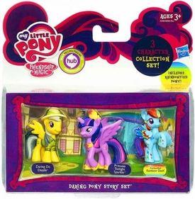 My Little Pony Friendship is Magic Daring Pony Story 3-Pack Daring Do Dazzle, Princess Twilight Sparkle & Rainbowfield Rainbow Dash