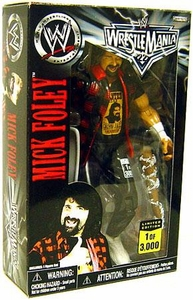 WWE Wrestling Exclusive Limited Edition Wrestlemania 22 Action Figure Mick Foley Only 3,000 Made!