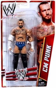 Mattel WWE Wrestling Basic Series 33 Action Figure #58 CM Punk