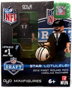 OYO Football NFL Draft First Round Picks Building Brick Minifigure Star Lotulelei [Carolina Panthers] #14 Draft Pick