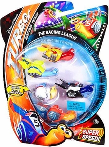 Turbo Movie Moments 5-Pack The Racing League [Includes Tuck & Roll White Shadow!]