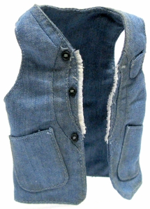 Hot Toys Expendables 2  Barney Ross LOOSE 1/6 Scale Denim Vest