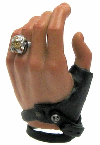 Hot Toys Expendables 2  Barney Ross LOOSE 1/6 Scale Gloved Left Palm & Ring for Holding Pistols