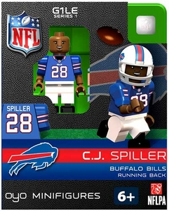 OYO Football NFL Building Brick Minifigure C.J. Spiller [Buffalo Bills]
