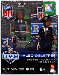 OYO Football NFL Draft First Round Picks Building Brick Minifigure Alec Ogletree [St. Louis Rams] #30 Draft Pick