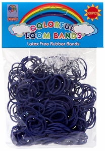 Colorful Loom Bands 300 Dark Purple Rubber Bands with 'S' Clips