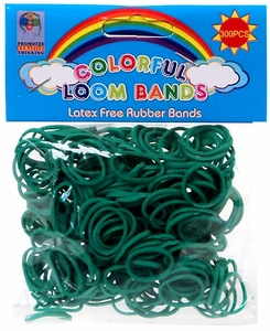 Colorful Loom Bands 300 Teal Rubber Bands with 'S' Clips