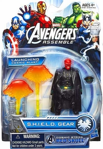 Marvel Avengers Assemble SHIELD GEAR Action Figure Cosmic Strike Red Skull [Launching Cosmic Blast!] New!