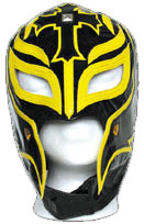 Official Rey Mysterio Kids YOUTH Replica Mask Black with Yellow Accent