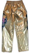 Official Kids Size Rey Mysterio Replica Pants [Gold]