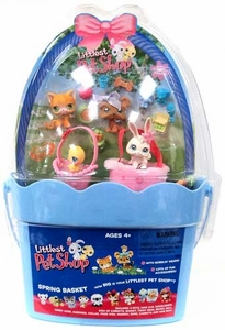 Littlest Pet Shop Spring Basket with 4 Figures