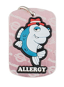 Fish Allergy Alert Tag