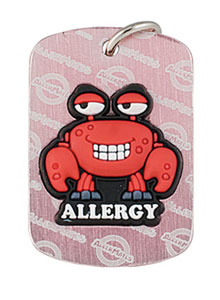 Shellfish Allergy Alert Tag