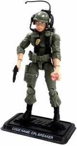 GI Joe 3 3/4 Inch LOOSE Action Figure Cpl. Breaker - Communication Officer