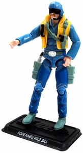 GI Joe 3 3/4 Inch LOOSE Action Figure Wild Bill - Helicopter Pilot