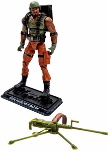 GI Joe 3 3/4 Inch LOOSE Action Figure Roadblock - Heavy Machine Gunner