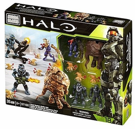Halo Mega Bloks Exclusive Set #97160 Flood Hunters Battle Unit