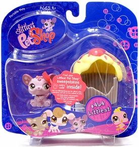 Littlest Pet Shop Portable Pet Mouse with Cupcake Damaged package