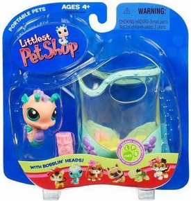 Littlest Pet Shop Pets On The Go Figure Seahorse in Aquarium [Damaged Packaging]