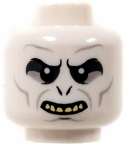 LEGO LOOSE Head  Voldemort White Head, Showing Teeth