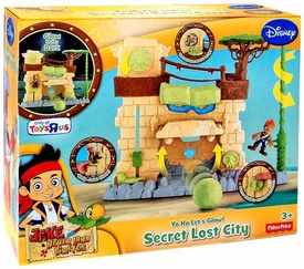 Disney Jake & the Never Land Pirates Playset Yo Ho Let's Glow! Secret Lost City