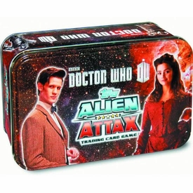 Doctor Who Alien Attax Trading Card Game Collectible Tin New!