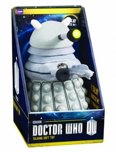 Doctor Who 15 Inch Deluxe Plush White Dalek Pre-Order ships March