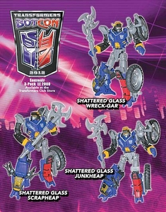 Transformers Botcon 2012 Exclusive Action Figure Junkions 3-Pack Wreck-Gar, Junkheap & Scrapheap