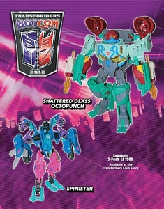 Transformers Botcon 2012 Exclusive Action Figure 2-Pack Spinister & Shattered Glass Octopunch