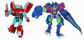 Transformers Timelines Botcon 2010 Exclusive Action Figure Set Rapido & Cindersaur