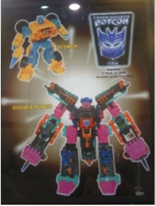Transformers Timelines Botcon 2010 Exclusive Action Figure Set Double Punch & Scorch with Ravage