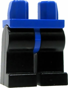 LEGO LOOSE Legs Blue Hips with Black Legs