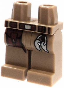 LEGO LOOSE Legs Dark Tan Legs with Brown Belt, Pouch & 'Prize' Fangs