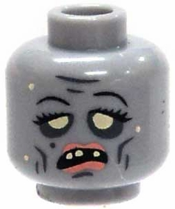 Citizen Brick Custom Printed LOOSE Head Zombie Head with Lipstick