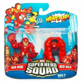 Marvel Super Hero Squad Series 20 Mini 3 Inch Figure 2-Pack Iron Man & Red Hulk