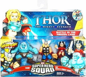 Super Hero Squad Thor Mighty Avenger 3-Pack Battle in the Frozen Land [Thor, SIF & Marvel's Frost Giant]