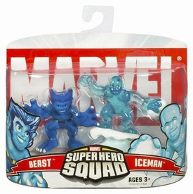 Marvel Superhero Squad Series 4 Mini 3 Inch Figure 2-Pack Beast & Iceman