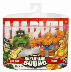 Marvel Superhero Squad Series 4 Mini 3 Inch Figure 2-Pack Moleman & The Thing