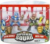 Marvel Superhero Squad Series 5 Mini 3 Inch Figure 2-Pack Ultimates Captain America & Nick Fury
