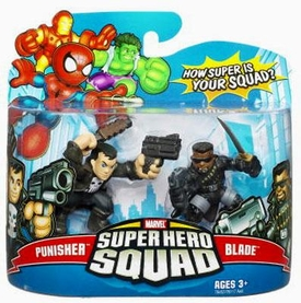 Marvel Superhero Squad Series 9 Mini 3 Inch Figure 2-Pack Punisher & Blade