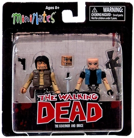 Walking Dead Minimates Series 4 Mini Figure 2-Pack  Governor & Bruce