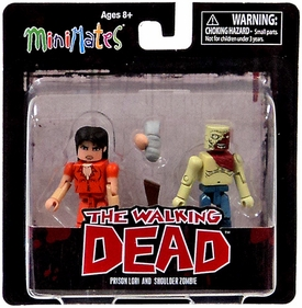 Walking Dead Minimates Series 4 Exclusive Mini Figure 2-Pack Prison Lori & Shoulder Zombie