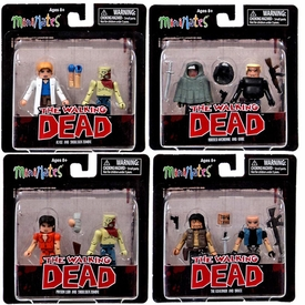 Walking Dead Minimates Series 4 Set of All Four 2-Packs