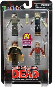 Walking Dead Minimates 2013 SDCC San Diego Comic Con Exclusive Mini Figure 4-Pack Herschels Farm