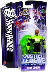 DC Super Heroes Justice League Unlimited Action Figure Green Lantern with Black & Green Outfit [Purple Card]